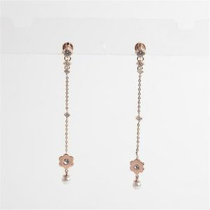Michael Kors In Full Bloom Crystal Pearl Earrings